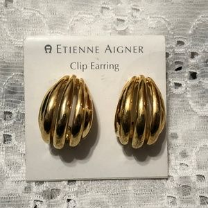Etienne Aigner Clip On Hoop Earrings